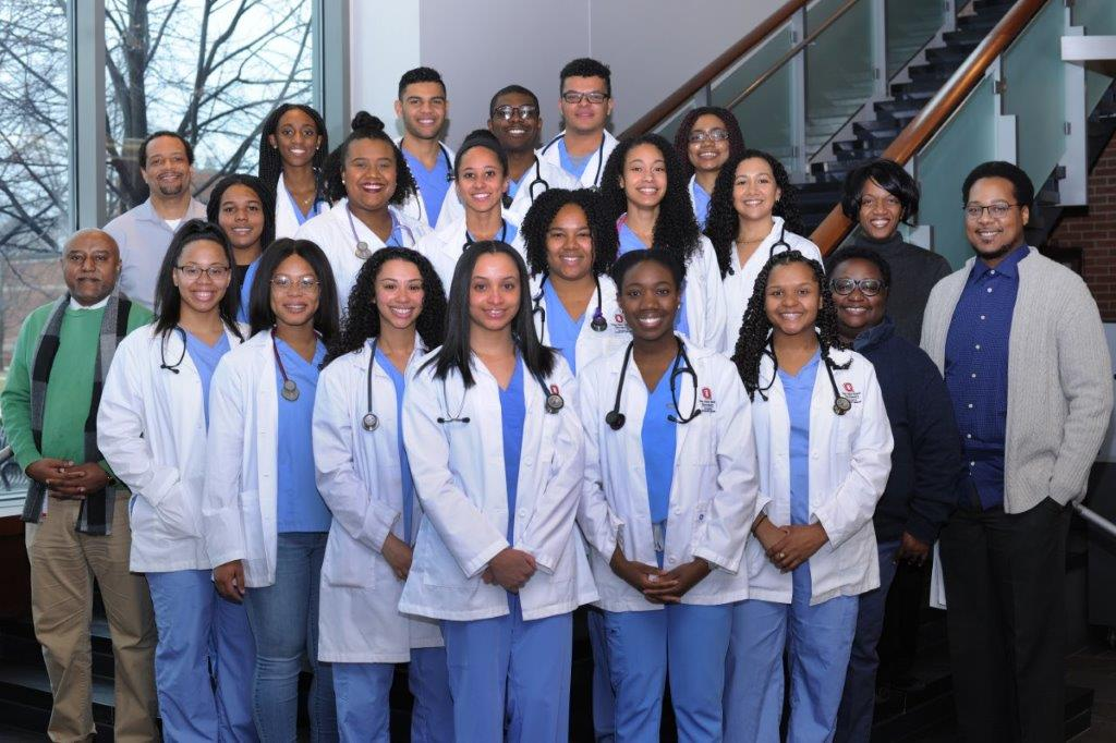 group photo of the students, faculty and staff who are members of the  Dr. J.H. Bias Black Affinity Group
