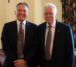 Dr. Peter Nara (left) and Dr. Kerry Ketring (right)