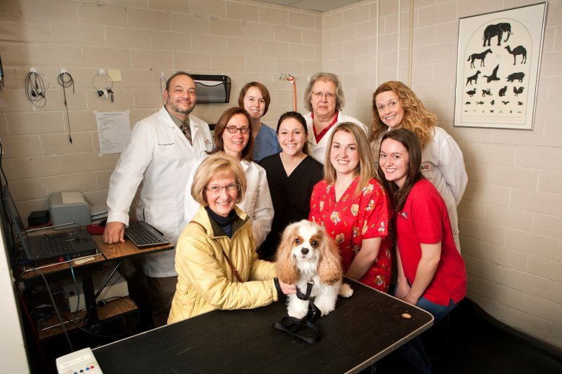 Dr. Peter Scheifele, Dr. Lynette Cole, Sandy Breckenridge, Murphy and company at UC's FETCH LAB