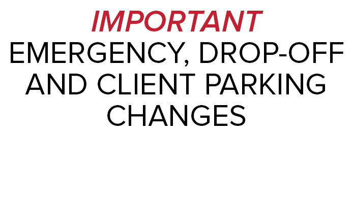 Temporary parking change, emergency access